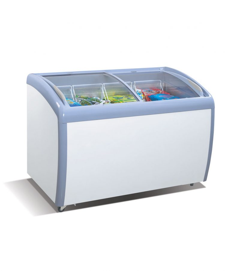 ATOSA MMF-9109 Angle Curved Top Chest Freezer (Glass Arc Lid)